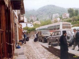 Marktplatz in Karyes, der Hauptstadt von Athos